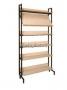 Шкаф-стеллаж комбинированный 1 наклонная и 5 горизонтальных полок
